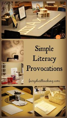 Provocations can be overwhelming. Let's take a look at some simple ideas for literacy provocations found in a Reggio-Inspired Preschool.