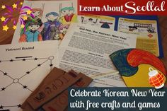 Learn about Seollal - the Korean Lunar New Year with activities, games, and #free printables