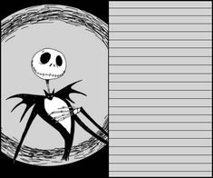 printables: Nightmare Before Christmas Printables (write notes to the mom, etc. on these)