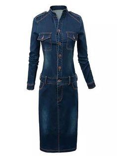 Fashionable&charming Jean Bodycon-dress   fashionmia.com
