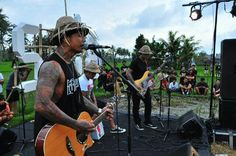 Superman is Dead performing in front of the Bali Not For Sale art installation at Junjungan, 26 July 2013. #BaliNotForSale #Bali #music #musik #SupermanIsDead #SID
