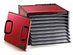Excalibur 9 Tray Dehydrator with Timer Color: Raspberry Excalibur Dehydrator, Kitchen Magic, Raspberry Color, Solid Doors, Plastic Trays, Dehydrated Food, Dehydrator Recipes, Specialty Appliances, Kitchen Appliances