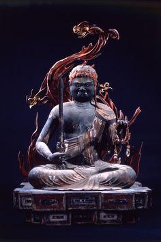 Kouyasan Wakayama Japan. 不動明王坐像 : 高野山霊宝館 Buddha Zen, Gautama Buddha, Japanese Culture, Japanese Art, Book Of The Dead, Taoism, Buddhist Art, Sculpture Art, Art Museum