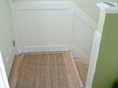 IHeart Organizing: How to do board and batten paneling on basement stairs