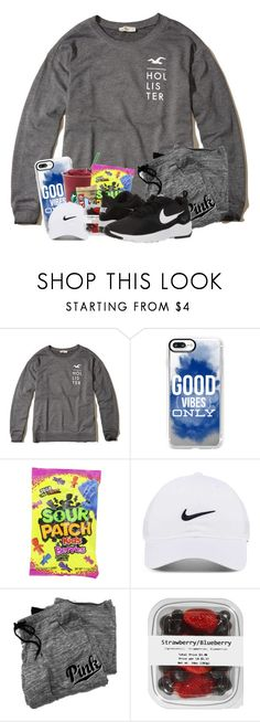 """""""OOTD : I lost my voice today . . ."""" by meinersk45195 ❤ liked on Polyvore featuring Hollister Co., Casetify, NIKE and Victoria's Secret"""