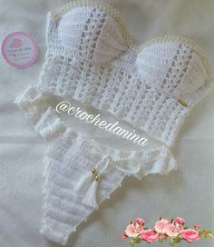 98 Likes, 2 Comments - Crochet Bikinis Crochet, Crochet Halter Tops, Crochet Bikini Top, Knit Crochet, Learn To Crochet, Crochet Bathing Suits, Crochet Baby Clothes, Crochet Woman, Diy Clothes
