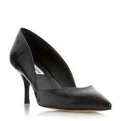 DUNE LADIES AMAL - Two Part Mid Heel Court Shoe - black | Dune Shoes Online