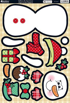 Kanban Wobblers card kit - Christmas - Sidney Snowman