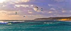 Kite boarding - Margaret River - Western Australia...enlarge this and feel the fresh air........x