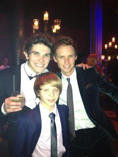 Three of the cutest guys in the film.. in one picture.. in suits... smiling at you.. Ahh <3