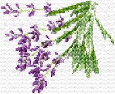 Cross stitch pattern. I love lavender and would love to do this cross stitch.
