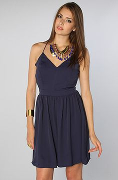 The Marissa Dress in Navy by *LA Boutique #Karmaloop Discount Rep Code: STYLECAFE