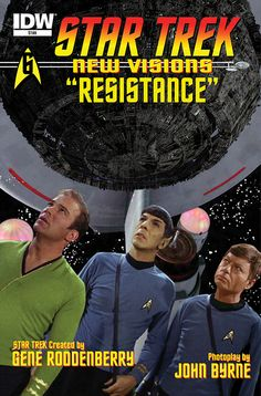 Star Trek New Visions: Resistance - Kirk and crew battle The Borg! - Star Trek FIRST LOOK: IDW's Trek Comics For May
