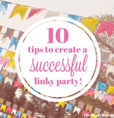 Aside from post linkys, some blogs host blog hop linkys as a way to grow their blog, by inviting bloggers to link up their blogs or a social media profile, such as their Facebook page or Twitter account. It's a great way to meet new blog friends!  Want to try hosting one?  Here are 10 tips for a successful linky.