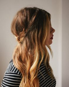 """Cute half up hair-do. Simple, easy and chic. The best thing about it... the messier the more """"effortless"""" it looks. #beauty #hairstyle #howto"""