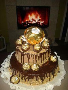Dupla csokis Ferrero Rocher torta születésnapra!