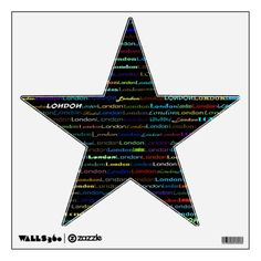 London Text Design I Wall Decal Star
