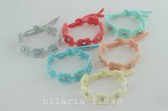 by hf Crochet Bracelet Summer Tiny Flower ❥ 4U //