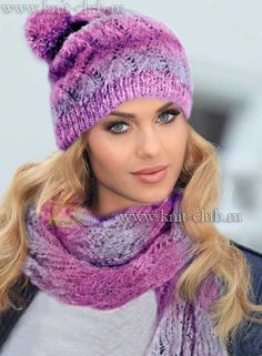 Как связзать спицами шарф и шапку. Схемы и описание моделей