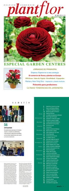 Diseño y maquetación revista Plantflor.