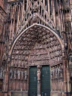 Cathedral of Our Lady of Strasbourg, #France #cathedral #beautifulplaces