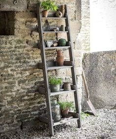 Provence Ladder Shelf - garden furniture