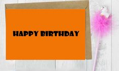 Orange card,Happy Birthday,Birthday card him,birthday, greeting card,birthday cards,Cards for Auntie,cards for uncle Birthday Cards For Him, Happy Birthday Greeting Card, Bunting, Cards For Boyfriend, Cat Birthday, Sympathy Cards, Balloon Decorations, Orange, Card Ideas