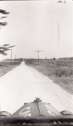 Vintage Abstract Photo  1913 CAR cross country road by photopicker