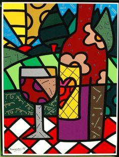 Prachtige #zeefdruk van Romero Britto op gesso (hardboard) Het werk is al prachtig ingelijst in een baklijst. Hand gesigneerd en genummerd 51/100 #kunst #art  Romero Britto (1964) Geboren in Brazilië,woont en werkt momenteel in Miami, Florida. Britto`s stijl is uniek en nog het best te beschrijven als Neo-Pop Cubisme. Met zijn briljante ...