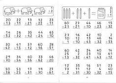 Resultado de imagen para fichas de restas con llevadas de dos cifras
