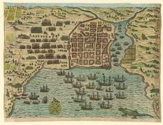 Vista de Santo Domingo en estado de sitio, 1585-1586 - Biblioteca Digital Mundial