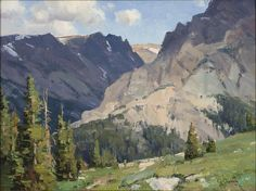 Clyde Aspevig (1951–Present), Wind River Mountains, WY, oil on canvas mounted on board, 12 x 16 in, JHAA 2014 Sold: $4,388