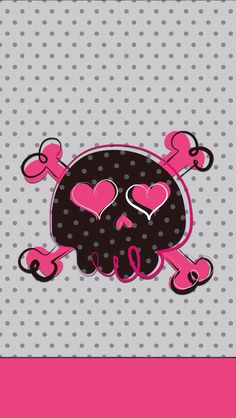 GIRLY SKULL, IPHONE WALLPAPER BACKGROUND