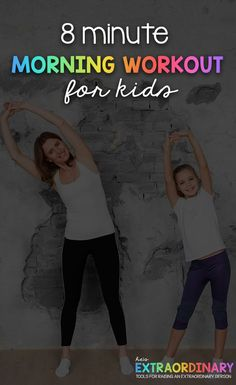 8 Minute Morning Workout for Kids - ADHD & Autism Resources for Parents Physical Activities For Kids, Sensory Activities, Physical Education, Yoga For Kids, Exercise For Kids, Kids Workout, Workout Routines, Workout Ideas, Children Exercise