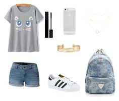 Cute kitten by sweetrose19 on Polyvore featuring polyvore, fashion, style, LE3NO, adidas, Stella & Dot, AT&T, Gucci and clothing