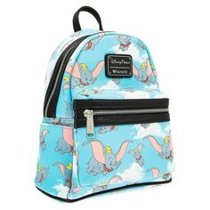 Adorable flying elephant Dumbo will keep your essentials in tow wherever you soar with this mini faux leather backpack by Loungefly. Disney Handbags, Disney Purse, Jansport, Dumbo The Flying Elephant, Cute Mini Backpacks, Faux Leather Backpack, Backpack Purse, Cute Bags, Disney Outfits