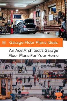 Want to have a garage that's much more than just a storage space? Our in-house expert architect has interesting garage floor plans that'll inspire your next garage remodel. Garage Renovation, Garage Remodel, Garage Makeover, Garage Floor Plans, Diy Projects Cans, Makeover Before And After, How To Know, Creative Design, Storage Spaces