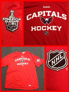 Caps Stanley Cup Speedwick performance tshirt.  Now available in the Team Store at KCI.