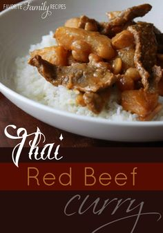 This red beef curry dish is one of the first things my husband cooked for me. It's spicy!!! #redbeefcurry #curryrecipe