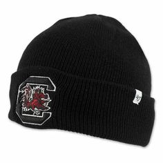 South Carolina Gamecocks Cuff Knit Beanie - Black #gamecocks #christmas #carolinagamecocks #usc #southcarolina #sc #carolina