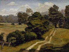 """Long Island Landscape,"" Luigi Lucioni, 1930, oil on canvas, 16 1/4 in. x 21 1/8"", Addison Gallery of American Art."