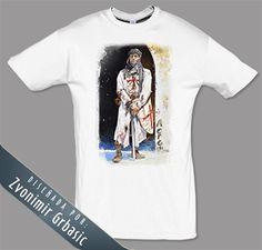 Camiseta Asedio de Acre 1191. Dibujo:Zvonimir