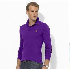 Ralph Lauren Mesh Polo Purple Yellow Men Stickup http://www.ralph-