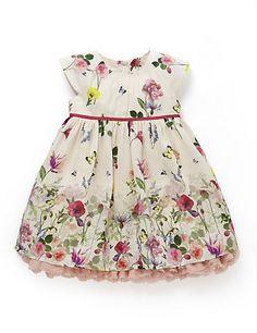 Floral Border Painterly Dress | M&S
