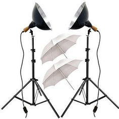 $109.95 - Impact Tungsten Two-Floodlight Kit with 6' Stands & Umbrella Kit - Light for your finished print.