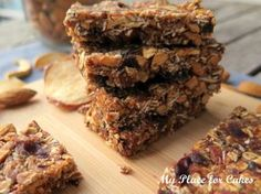 Müslibarer uden tilsat sukker Granola bars with no added sugar