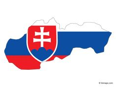 Flag Map of Slovakia Map Vector, Vector Free, Slovakia Flag, Outline Format, Nhl Boston Bruins, County Map, Flags Of The World, Czech Republic, Logos
