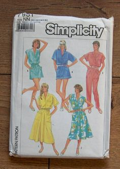 8a8eb4a3ff8 Items similar to vintage 80s simplicity pattern 7951 misses loose fitting  dress in 2 lengths