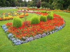 Flower beds at Victoria Park, London, via Flickr.
