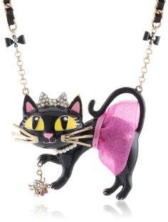 "Betsey Johnson ""Enchanted Forest"" Tutu Cat Pendant Necklace, 19"" Betsey Johnson,http://www.amazon.com/dp/B00CZCAC9U/ref=cm_sw_r_pi_dp_F5txsb1C7PXE8MY0"